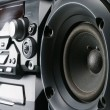 Stock Photo: Compact stereo system
