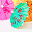 Paper cocktails parasols — Stock Photo