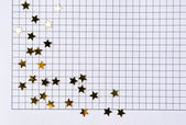 Notebook page with stars — Stock Photo