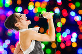 Singer at a night club — Stock Photo
