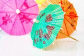 Paper cocktails parasols — Stock Photo