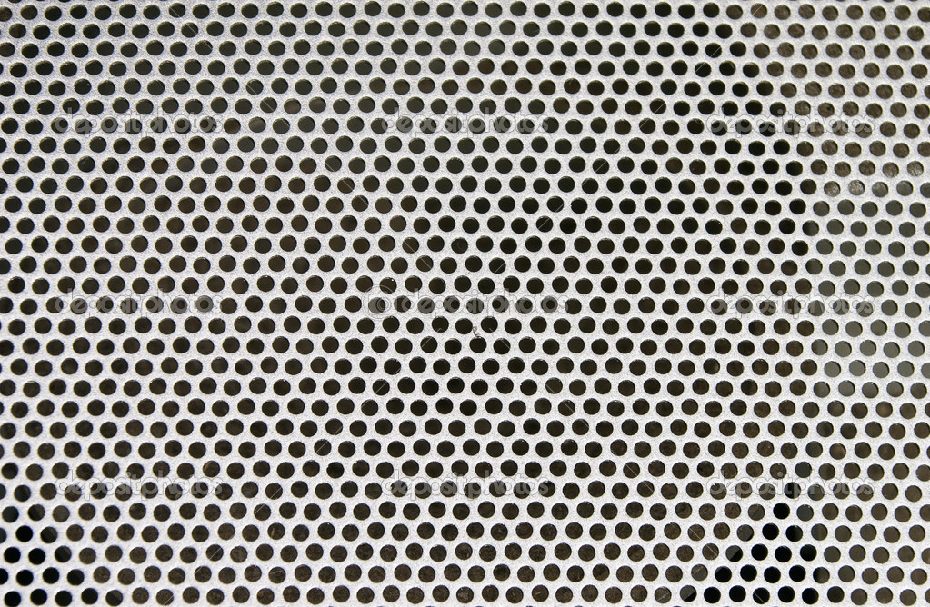 Abstract loud speaker aluminum grill texture  Stock Photo #3968181