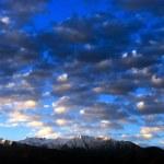 Sunrise over mountains — Stock Photo