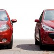Two red sport cars — Stock Photo #3974150