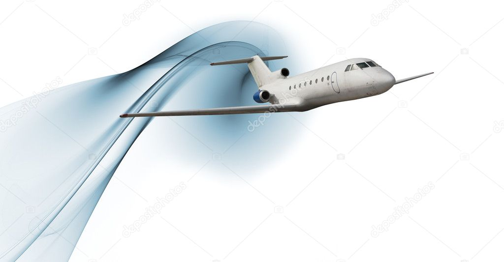 Commercial airliner isolated over white background — Stock Photo #3972523