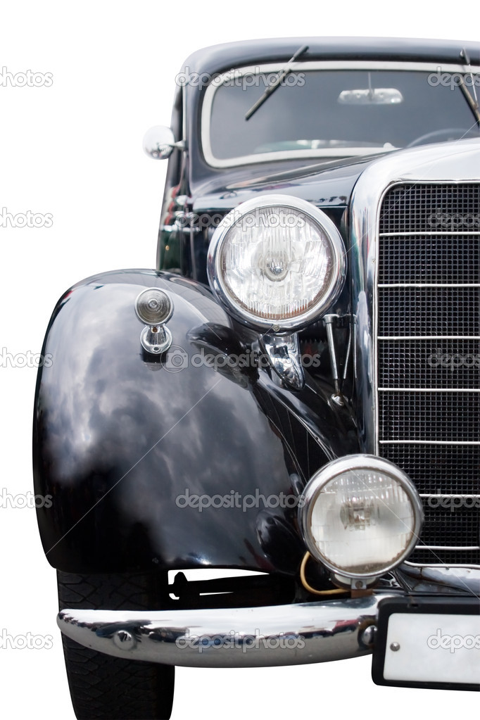 Vintage car front view isolated over white — Stock Photo #3974168