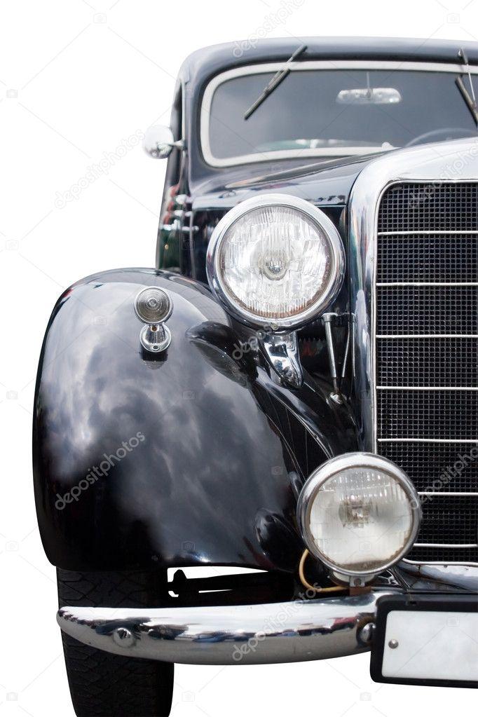 Vintage car front view