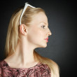 Stock Photo: Beautiful Young blonde woman portrait