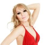 portrait de la belle femme blonde — Photo