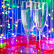 Two wineglasses with champagne — Stock Photo #4343451