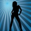 Dancing disco girl - Imagens vectoriais em stock