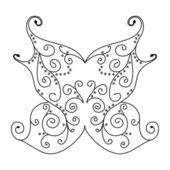 Vector butterfly ornament — Vettoriale Stock