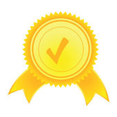 Vector Satisfaction Guaranteed label — Stock Vector