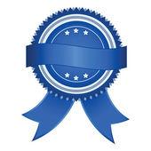 Vector blue Satisfaction Guaranteed label — Stock Vector