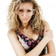 Woman in protect glasses — Stock Photo #4634549