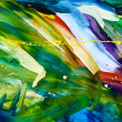 Abstract chaos painting - Photo