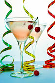 Cocktail and cherry — Stock Photo