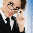 Thoughtful businesswoman — Stock Photo