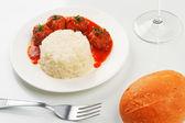 Medajlonky s rýže obloha — Stock fotografie