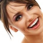 szczęśliwy uśmiechający się włos — Zdjęcie stockowe