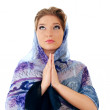 Praying woman — Stock fotografie