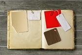 Vintage scrapbook — Stock Photo