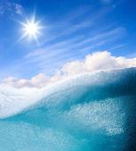 Blue water vawe — Stock Photo