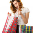 Woman at shopping — Stock Photo