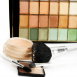 Compact powder cosmetics set — Stock Photo