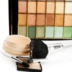 Compact powder cosmetics set — Stock Photo