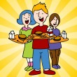 Royalty-Free Stock Vektorfiler: School Lunch Program