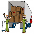 Friendly Moving Company — Stock Vector