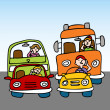 Постер, плакат: Dangerous Driving While Using Cellphone