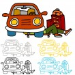 Car Repair and Maintenance — Imagen vectorial
