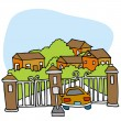 Gated Community — Stock Vector