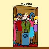 Ridning i hiss — Stockvektor