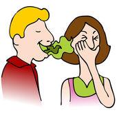 неприятный запах изо рта — Cтоковый вектор