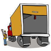 Truck Safety Inspection — Stock Vector