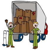 Friendly Moving Company — Stock Vector