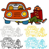 Car Repair and Maintenance — Stock Vector