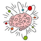 Atomic Brain Power — Stock Vector