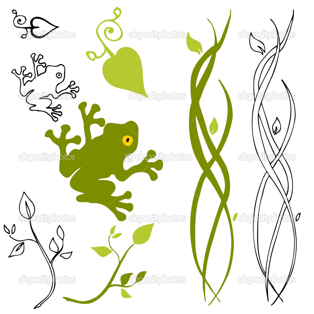Nature Design Elements — Stock Vector © cteconsulting #5270207