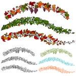 Leaf Flower Vine Set — Stock Vector #5289553