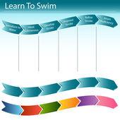 Learn to Swim Slide — Stock Vector