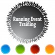 Running Event Training Circle — Stock Vector