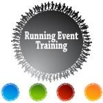 Running Event Training Circle — Stock Vector