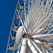 Stock Photo: Large White Ferris Wheel with Enclosed Cars