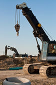 Construction Equipment at a Building Site — Stock Photo