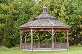 Wooden Gazebo in a Park — Stock Photo