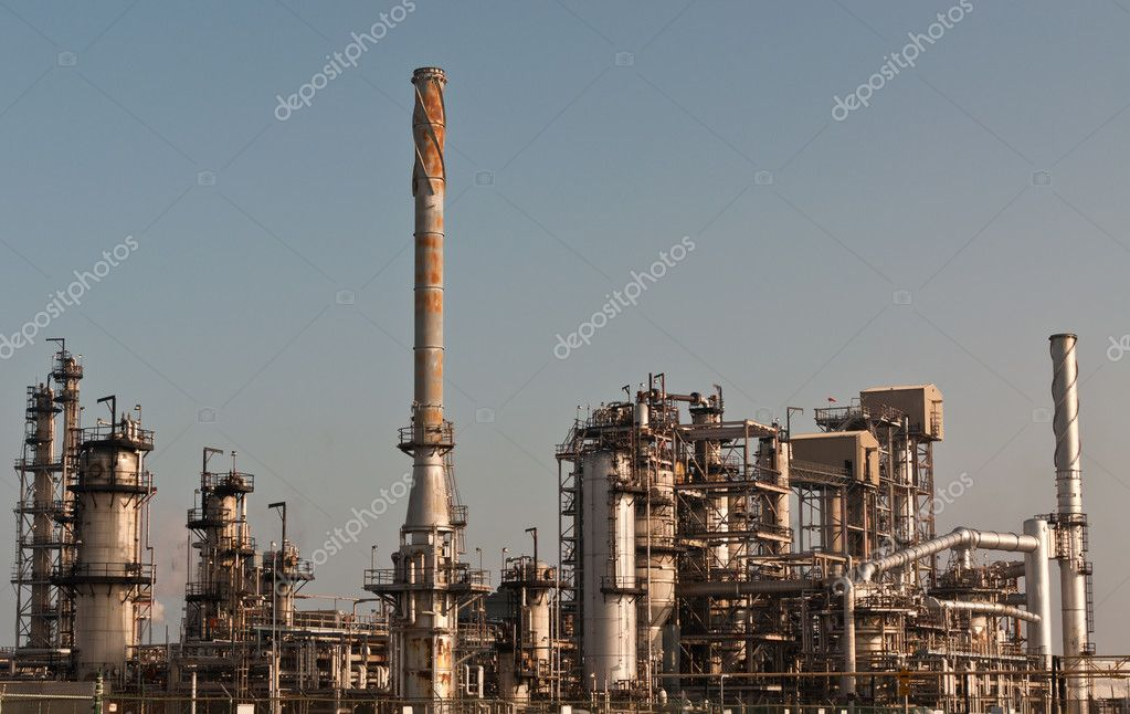 A petrochemical refinery plant  Stock Photo #4223906